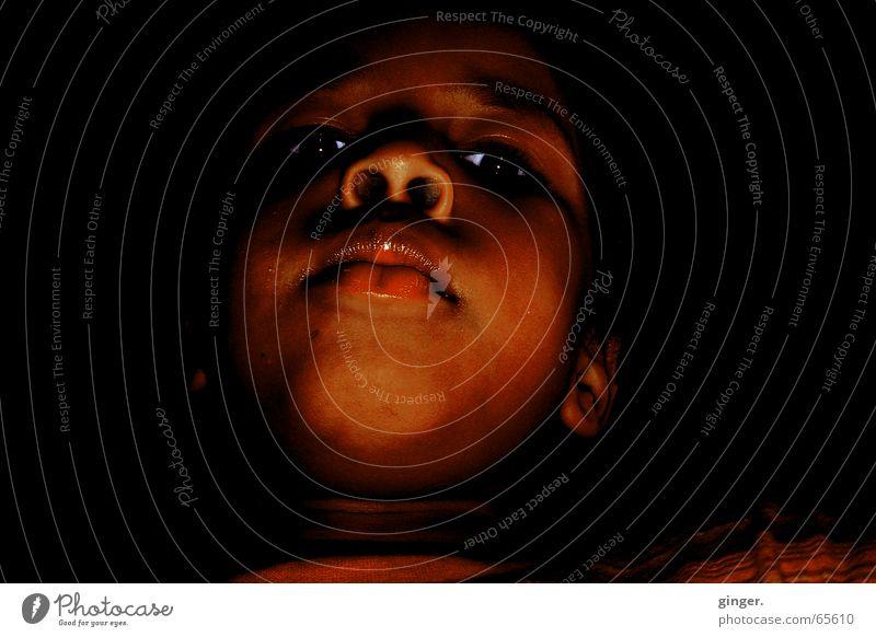 Der Traum - The Dream Kind dunkel Stimmung Mund Nase Afrikaner Nasenloch Hautfarbe Kinderaugen