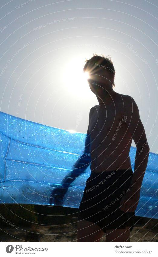 Luftikus Luftmatratze Sommer Strand Badehose blasen durchsichtig Sonne blau Schatten Schwimmen & Baden hohlraum aufgeblasen