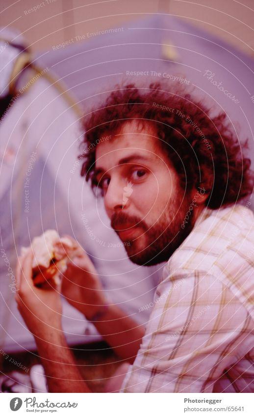 Fabio Ernährung Essen Bart Freundlichkeit Hemd Brot Locken Tomate kariert Käse Italiener Weltmeister