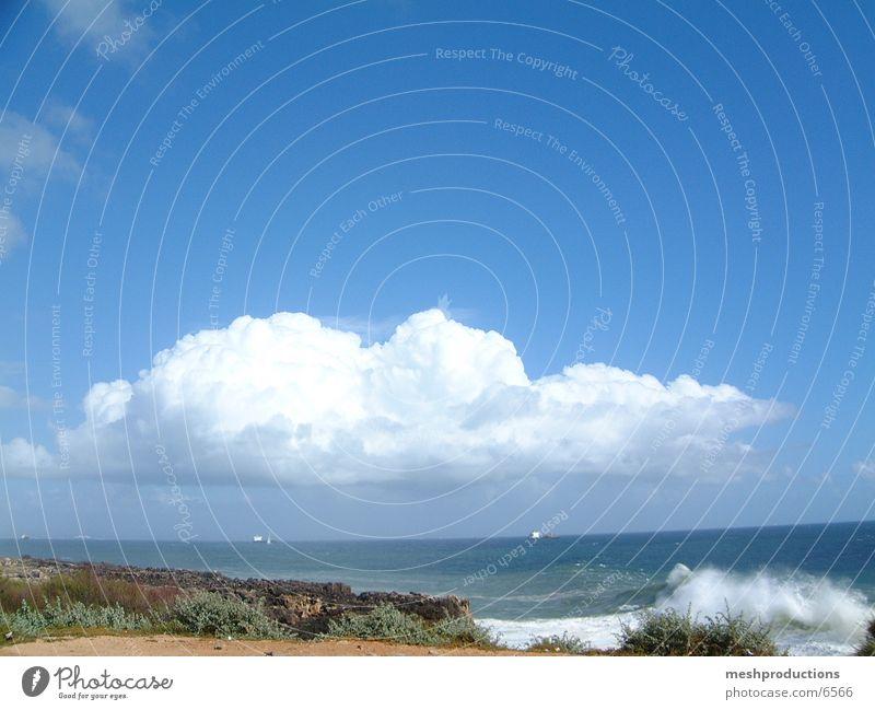 Above us clouds sea ocean