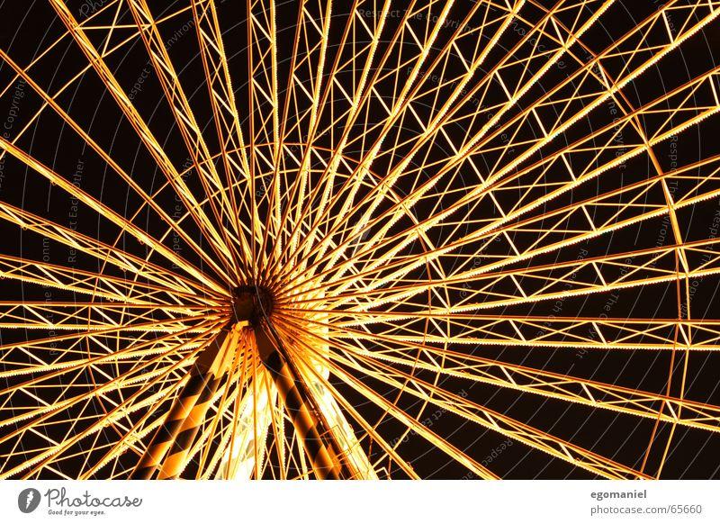round n round Beleuchtung Feste & Feiern rund Jahrmarkt Riesenrad