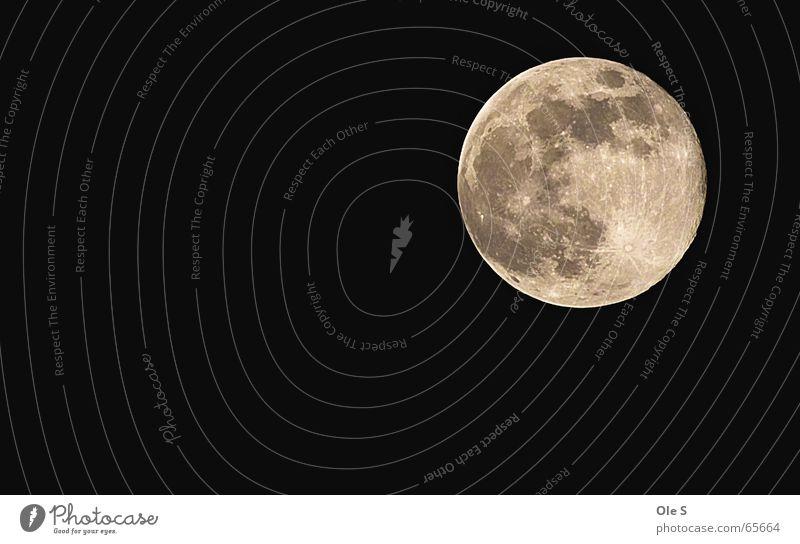Vollmond Mond Nacht Himmel Nachthimmel Abend Schönes Wetter mondkrater
