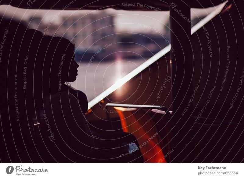 ° Mensch Ferien & Urlaub & Reisen Jugendliche Stadt schön Sommer Junge Frau Erholung Einsamkeit Ferne 18-30 Jahre Erwachsene Wärme feminin Kopf Wasserfahrzeug
