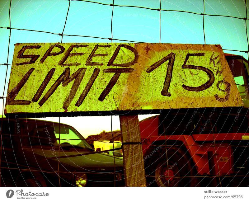 WACH SEIN PKW Schilder & Markierungen Zaun Bagger Wohnmobil Limit Kilometer pro Stunde Gramm