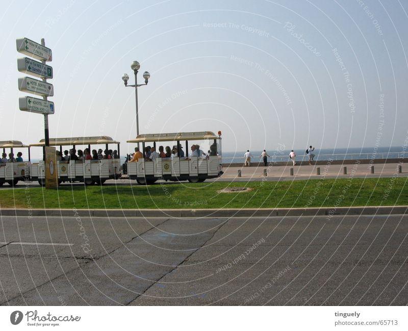 Nizza Sightseeing Meer Strand Ferien & Urlaub & Reisen Küste Eisenbahn mehrere Reisefotografie Freizeit & Hobby Tourist Promenade Süden Frankreich Cote d'Azur
