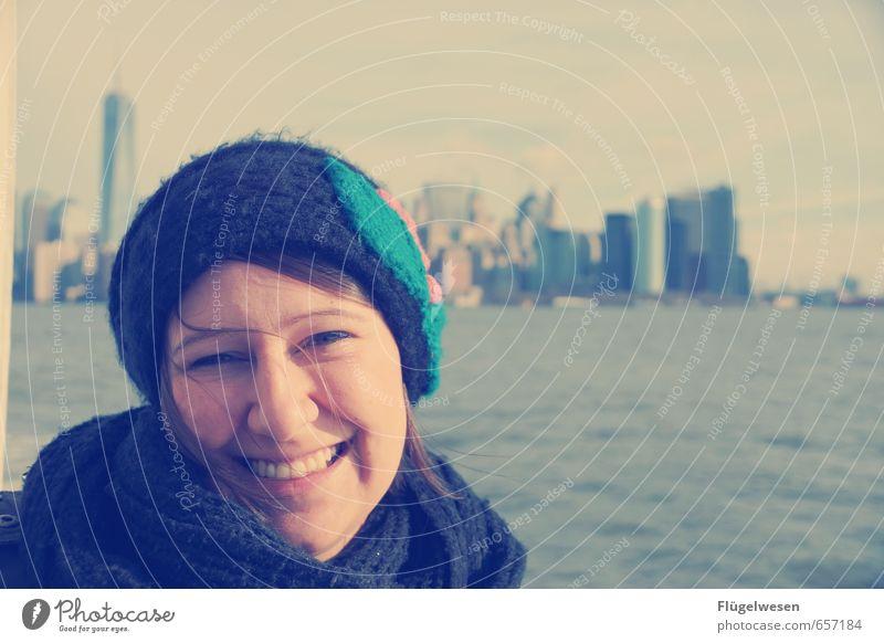 New York, New York Mensch Jugendliche Ferien & Urlaub & Reisen Junge Frau 18-30 Jahre Ferne Erwachsene Architektur Gebäude Freiheit Hochhaus Tourismus Ausflug Abenteuer entdecken Skyline