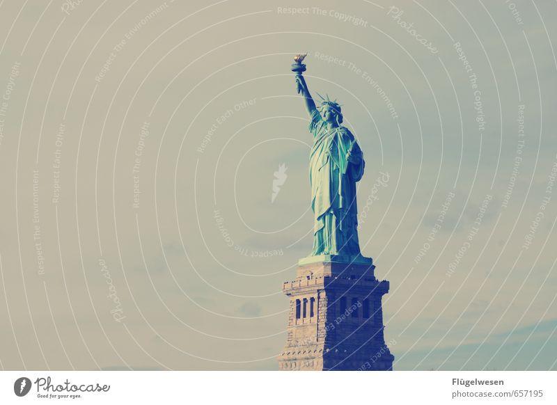 Freiheit! Ferien & Urlaub & Reisen Stadt Ferne Architektur Lampe Tourismus Ausflug Abenteuer USA Skyline Denkmal Wahrzeichen Hauptstadt Stadtzentrum Statue