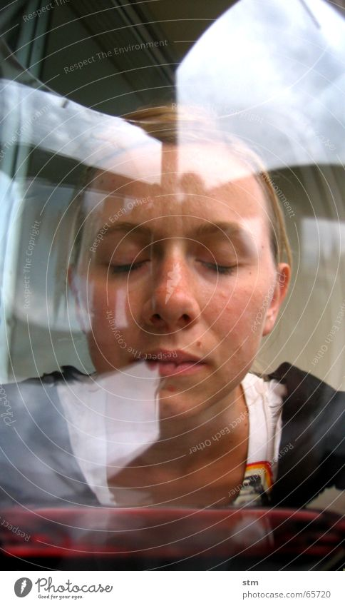dreamin 1 Frau Denken Glas Balkon Weinglas Rotwein Mensch Alkohol