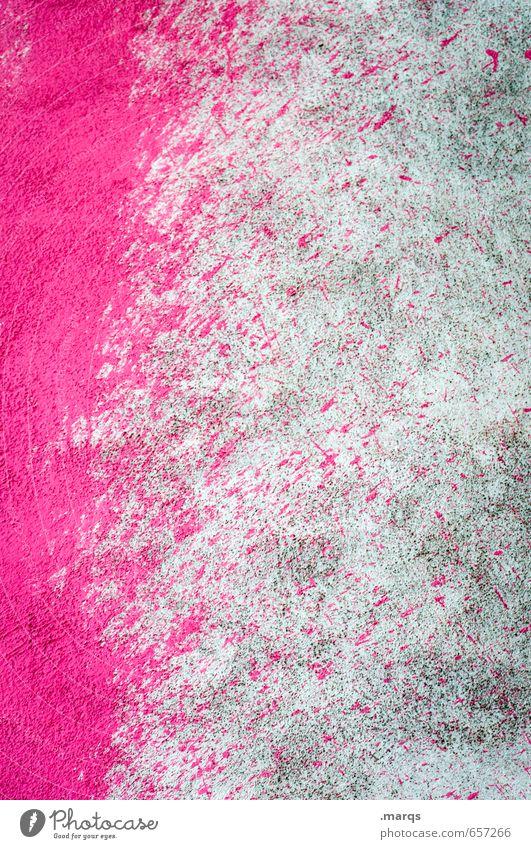 Splatter Anstreicher Mauer Wand Beton Graffiti Coolness einfach trendy trashig grau rosa Design Farbe Kreativität Farbstoff spritzen Hintergrundbild Farbfoto