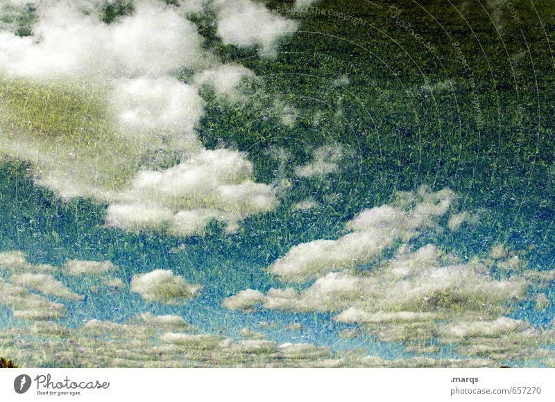 Himmel auf Erden Natur Sommer Wolken Umwelt Wiese Stil außergewöhnlich Freiheit Stimmung Wetter elegant Klima Schönes Wetter himmlisch Doppelbelichtung