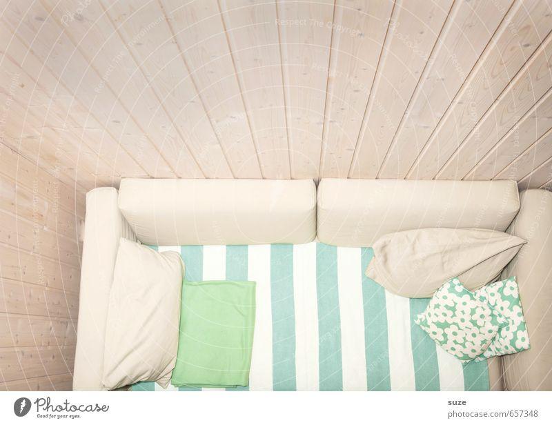 Freud'sche Ansicht grün weiß Erholung ruhig Wand Innenarchitektur Stil hell Wohnung Raum Lifestyle Häusliches Leben Design authentisch einfach Streifen
