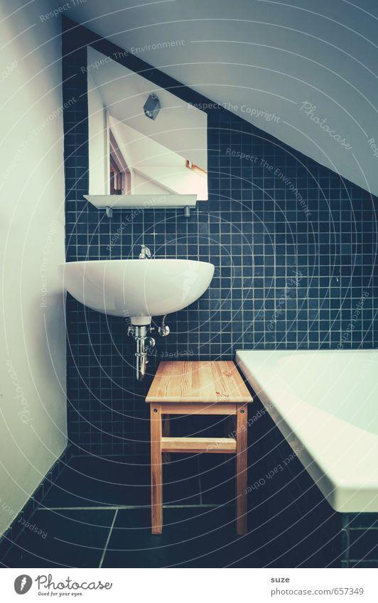 Wasch laberscht du room Lifestyle Stil Häusliches Leben Wohnung einrichten Innenarchitektur Dekoration & Verzierung Möbel Spiegel Badewanne Raum Mauer Wand
