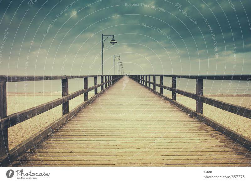 Kann ich mein Leben mal kurz speichern und was ausprobieren ruhig Strand Meer Umwelt Natur Landschaft Sand Luft Himmel Wolken Horizont Klima Küste Ostsee Brücke
