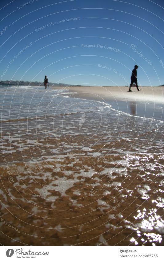 nicht hier Wasser Ferien & Urlaub & Reisen Meer Sommer Strand ruhig Sand Wellen Spuren Erfrischung Brandung Flut Ebbe Rauschen