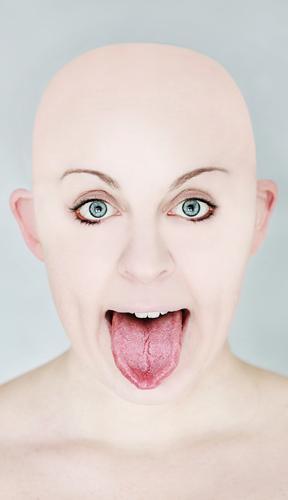wie geleckt aussehen Mensch maskulin feminin androgyn Junge Frau Jugendliche Erwachsene Kopf 1 30-45 Jahre Mode Glatze Zeichen Gefühle Stimmung kahl