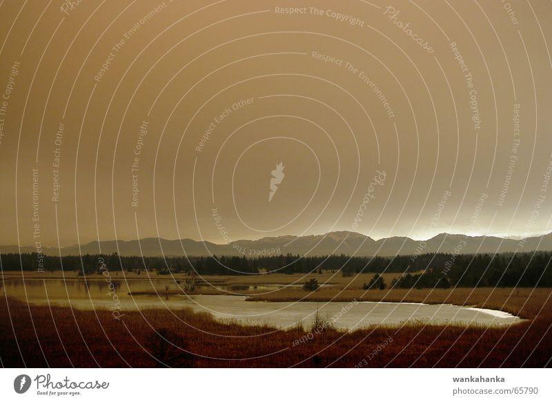 roter Sturm 3 Panorama (Aussicht) See braun Stimmung Moor Heide Himmel gewaltig Gefühle Landschaft invasion gedrückt groß