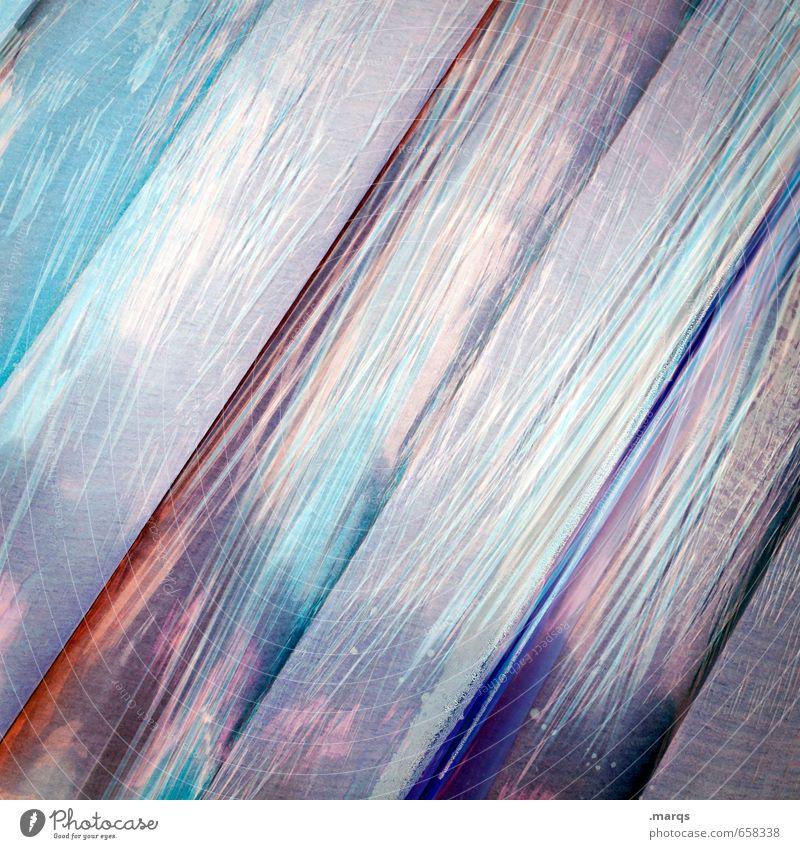 Verpackt elegant Stil Design Kunststoff Linie Streifen Farbe Surrealismus Hintergrundbild Verpackung Folie Farbfoto Außenaufnahme Nahaufnahme abstrakt
