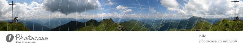 380° Sommer Ferien & Urlaub & Reisen Wolken Berge u. Gebirge wandern Alpen Klettern Gipfel Schönes Wetter Bergsteigen schlechtes Wetter Sport Österreich