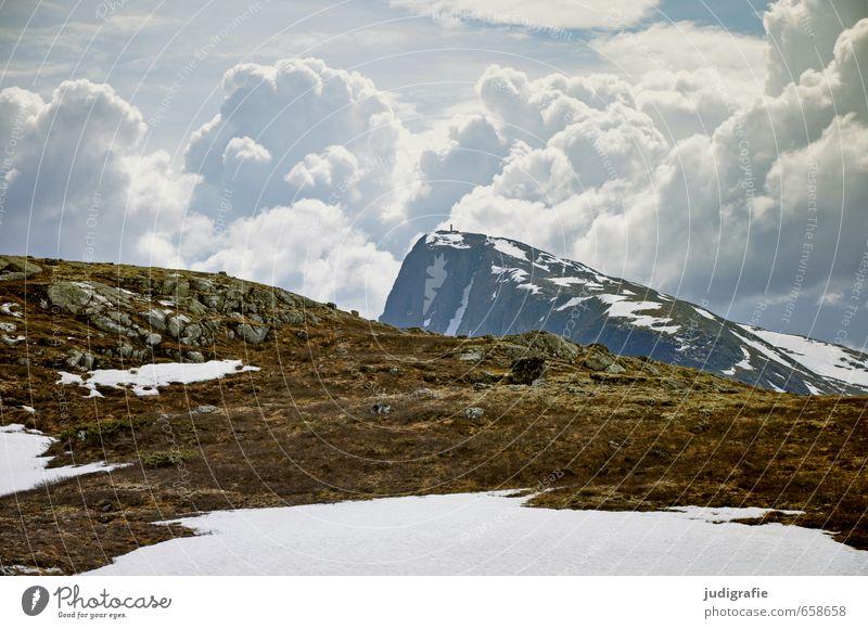 Norwegen Umwelt Natur Landschaft Urelemente Erde Himmel Wolken Klima Felsen Berge u. Gebirge Gipfel außergewöhnlich bedrohlich fantastisch kalt natürlich wild