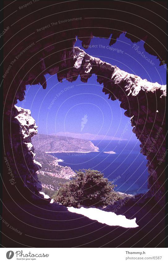 Monolithos - Insel Rhodos Meer Himmel Sonne Schatten Loch