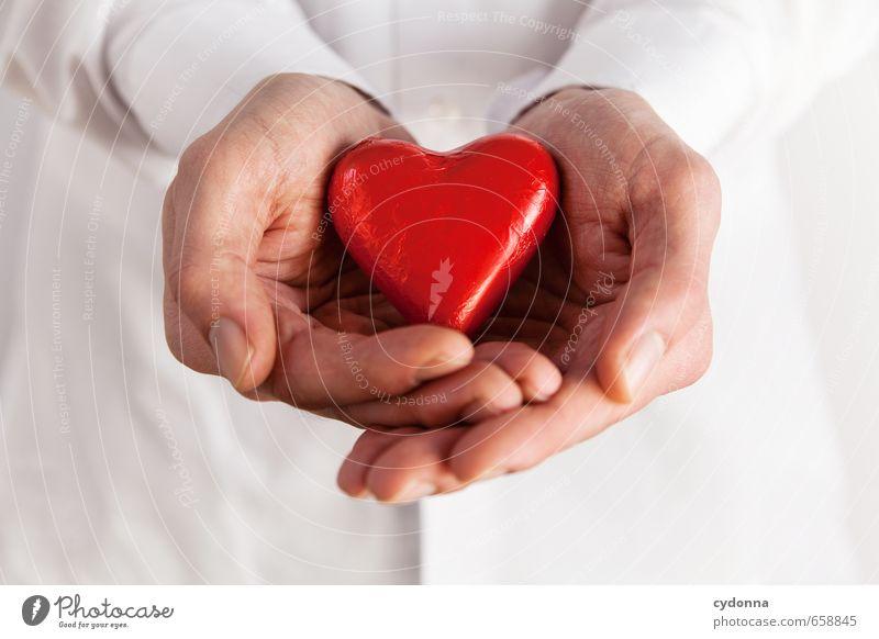 Nur eine Kleinigkeit Mensch Jugendliche Mann Hand 18-30 Jahre Erwachsene Leben Gefühle Liebe Gesundheit Paar Gesundheitswesen Kommunizieren Herz Vergänglichkeit