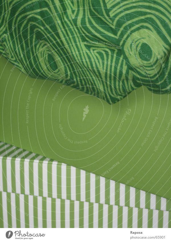 gestapeltes Grün weiß grün Farbe Kreis gestreift einfarbig hellgrün