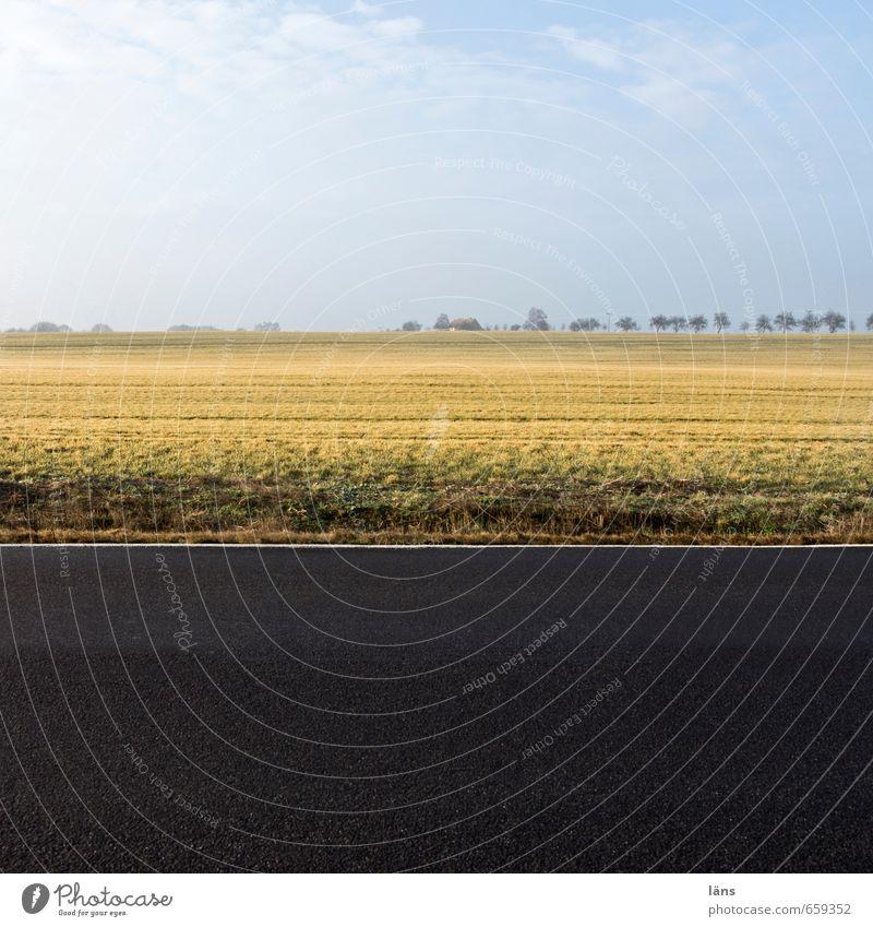 Gegenwart l ein Augenblick Umwelt Landschaft Verkehrswege schreiben Ferien & Urlaub & Reisen stagnierend Unendlichkeit Himmel (Jenseits) Straßenbelag