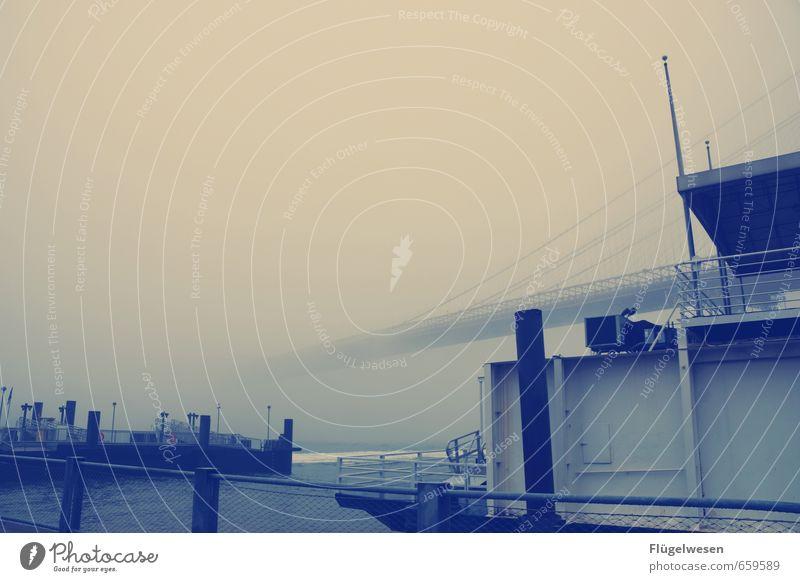 Ungewisse Lebensfahrt Ferien & Urlaub & Reisen Ferne Umwelt Architektur Freiheit Nebel Wind Tourismus Klima Ausflug Brücke Abenteuer Skyline Amerika