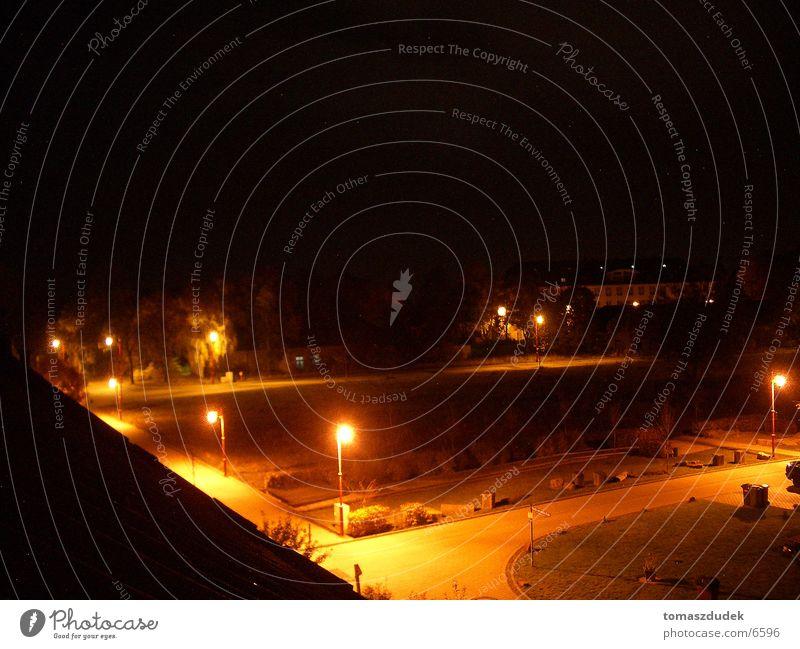Nightlite Nacht Straßenbeleuchtung Platz Lampe dunkel Langzeitbelichtung Stern (Symbol)
