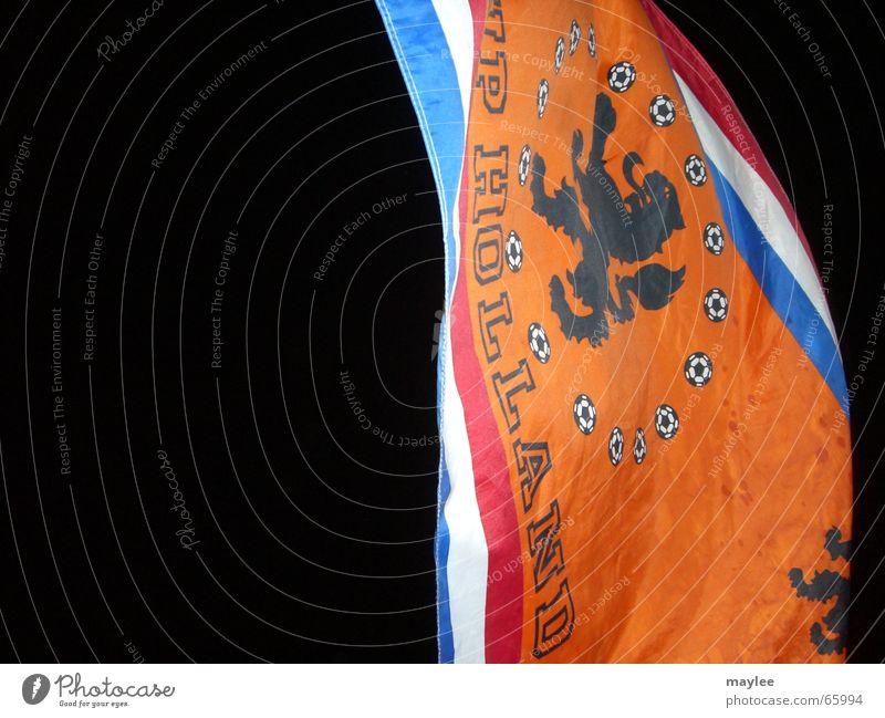 dunkle Zeiten für Holland schwarz orange Fahne Niederlande Weltmeisterschaft