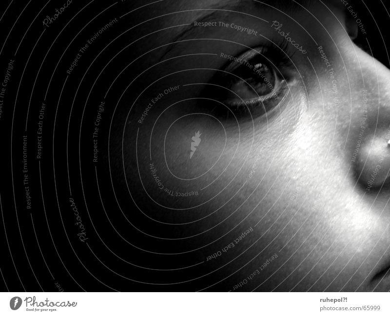 Lichtblick Frau Gesicht Denken Trauer Sehnsucht