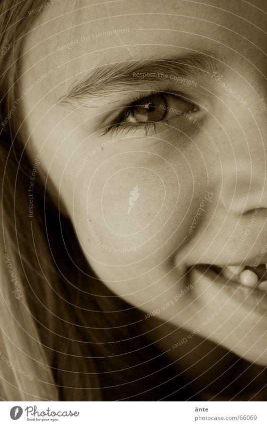 Anja II Mensch Kind Jugendliche Freude Mädchen Gesicht Auge lachen Haare & Frisuren glänzend Fröhlichkeit Mund Nase nah Zähne Vertrauen