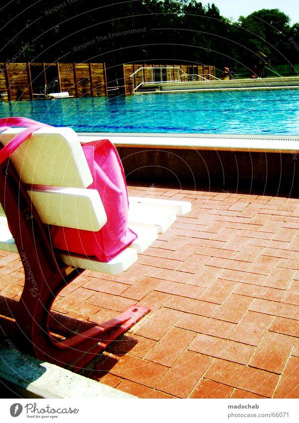 PISSBECKEN aka BURNING COLOR aka FARBREIZ Wasser Sonne Sommer Ferien & Urlaub & Reisen Farbe rosa Pause Schwimmbad Bank Freizeit & Hobby Fliesen u. Kacheln