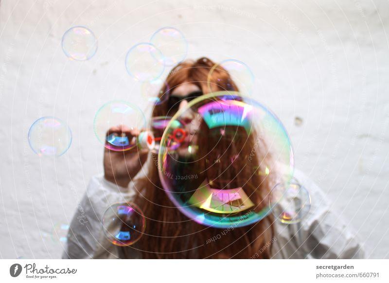 STUDIO TOUR | Blasen blasen Mensch Jugendliche weiß Freude 18-30 Jahre Junger Mann Erwachsene Wand Haare & Frisuren Feste & Feiern Party Freizeit & Hobby
