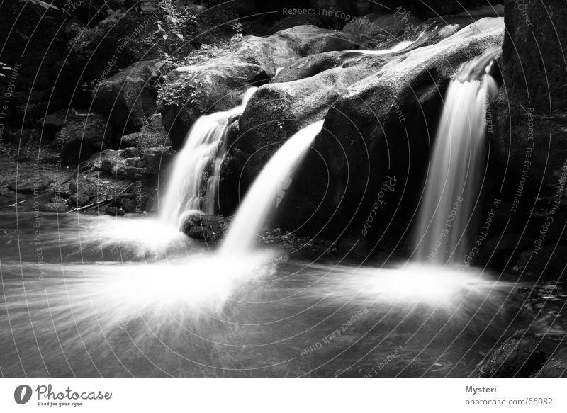 Müllerthal - Luxemburg Schiessentümpel Langzeitbelichtung müllerthal Wasser Wasserfall canon Schwarzweißfoto