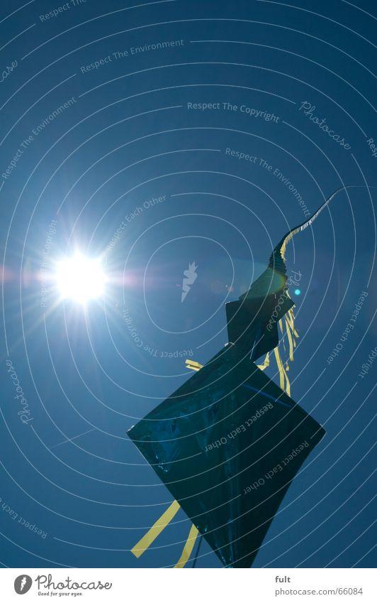 drachen3 Himmel blau Freude oben Bewegung fliegen Freizeit & Hobby Seil Reihe Drache Münster Windspiel hintereinander Drachenfest