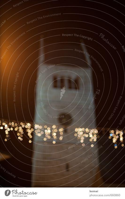 Lichterkettenglanz Stadt Weihnachten & Advent Gebäude Feste & Feiern glänzend Fassade leuchten Kirche rund Punkt hängen Altstadt Kirchturm