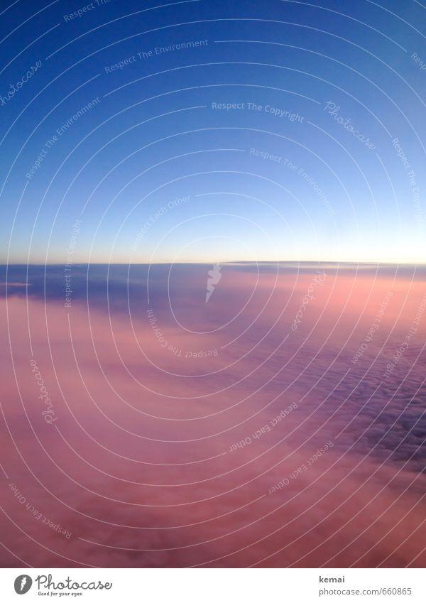 Luftweg nach Berlin Umwelt Natur Urelemente Himmel Wolken Sonne Sonnenaufgang Sonnenuntergang Sonnenlicht Klima Schönes Wetter Luftverkehr Flugzeugausblick