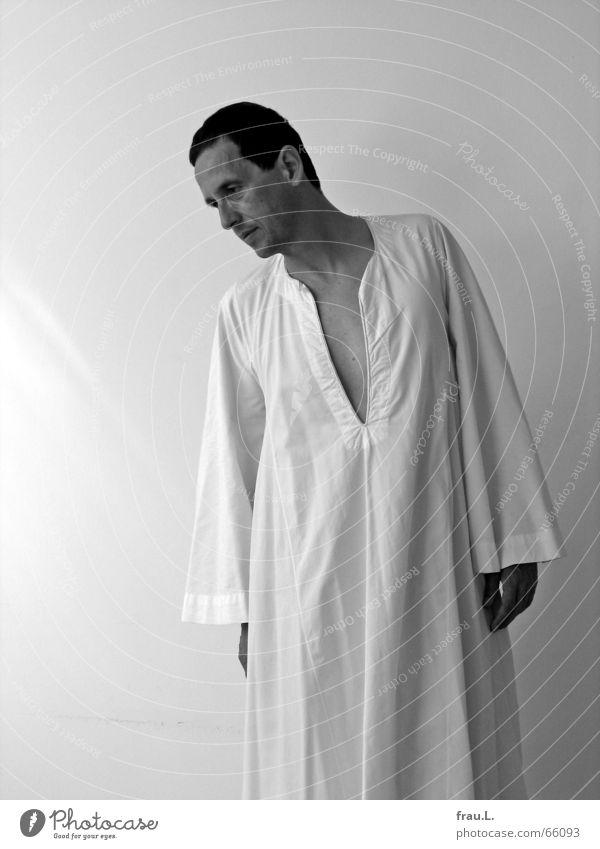 Dschelaba Mann Sommer ruhig Wand Denken elegant Bekleidung Kleid heiß fein Ägypten Baumwolle luftig Sekte biblisch