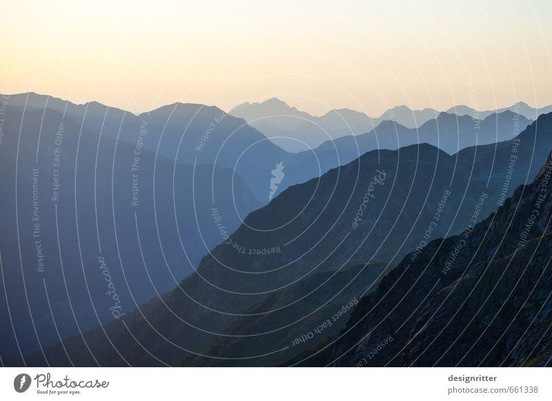 Jenseits vom Terminkalender Himmel Ferien & Urlaub & Reisen Erholung Einsamkeit Landschaft ruhig Ferne Berge u. Gebirge Freiheit Stimmung Felsen Horizont