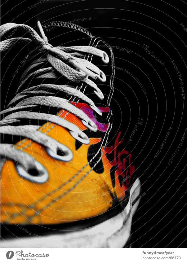 shoe. gelb Chucks Turnschuh old-school