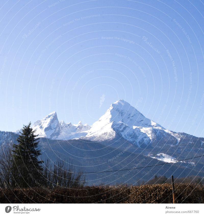 Zuckerberg, der Whats-man Natur Ferien & Urlaub & Reisen blau weiß Landschaft Winter kalt Berge u. Gebirge Schnee Felsen Freizeit & Hobby Tourismus gefährlich