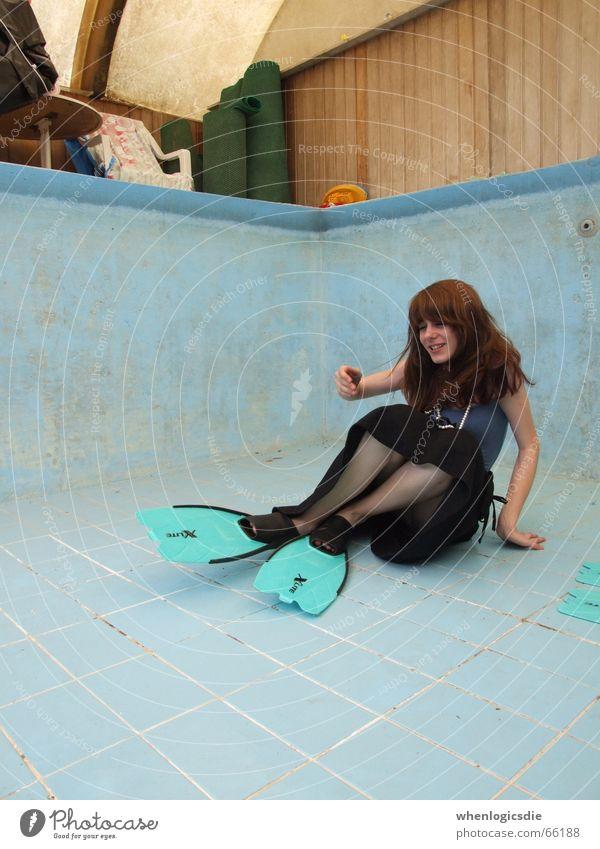 ... lachen leer Schwimmbad Bodenbelag Schwimmhilfe sinnlos