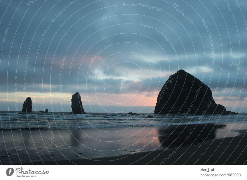 Dreifaltigkeit Umwelt Natur Landschaft Urelemente Erde Sand Luft Wasser Himmel Wolken Horizont Sonne Sonnenaufgang Sonnenuntergang Wellen Küste Meer Abenteuer