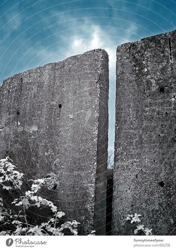 wall. Himmel Personenzug