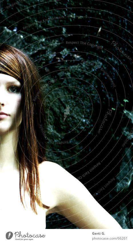 a_part Frau Mensch schön weiß Gesicht Auge Haare & Frisuren Haut Arme Hintergrundbild Felsen Teile u. Stücke Teilung Strahlung Schulter Hals