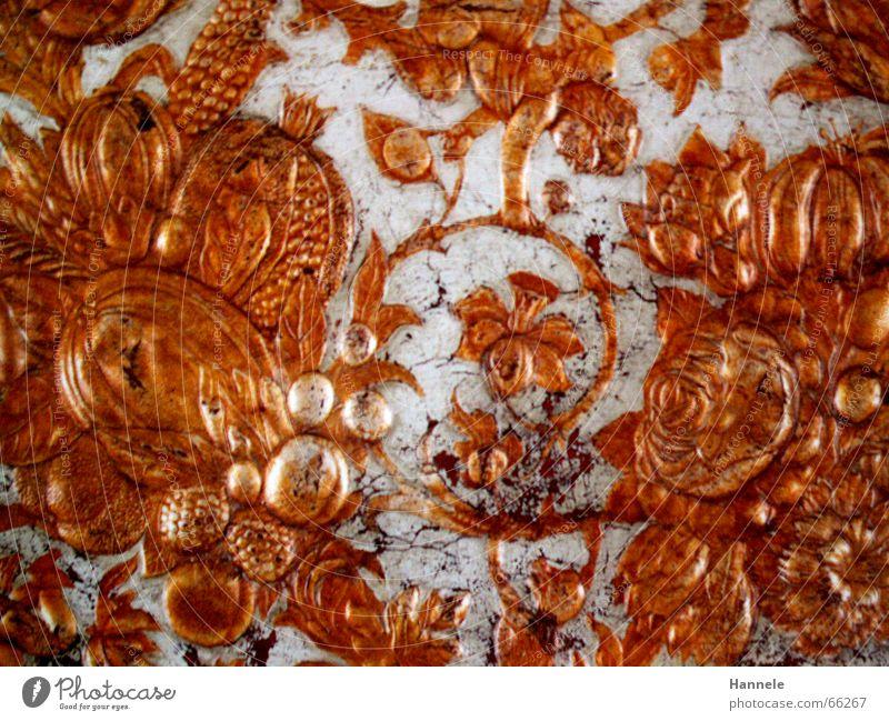 Goldig grau Schnörkel Tapete Wand reich Muster Gast gold alt altmodisch Kassel Museum