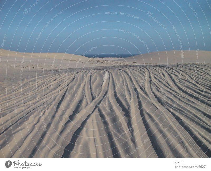 Jeepsafari heiß Meer Sand Wüste Stranddüne Spuren Strukturen & Formen