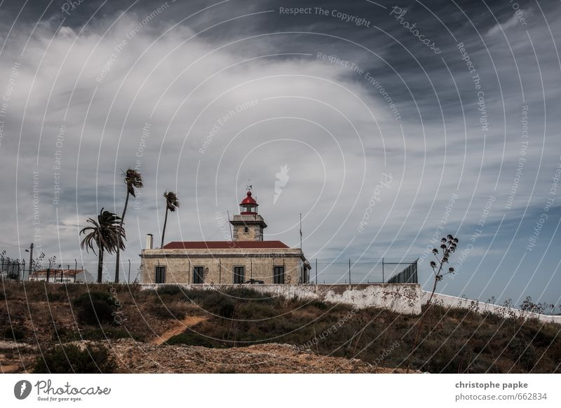Stürmische Zeiten Ferien & Urlaub & Reisen Ausflug Ferne Freiheit Sommer Sommerurlaub Meer Himmel Wolken schlechtes Wetter Unwetter Wind Sturm Portugal