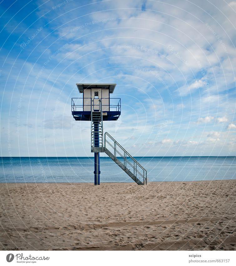 Ausblick Himmel Ferien & Urlaub & Reisen Wasser Sommer Sonne Meer Erholung Landschaft ruhig Wolken Ferne Strand Frühling Schwimmen & Baden Horizont Luft